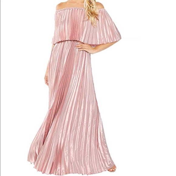 Milumia Dresses & Skirts - Off The Shoulder Ruffle Maxi Dress Pink never worn